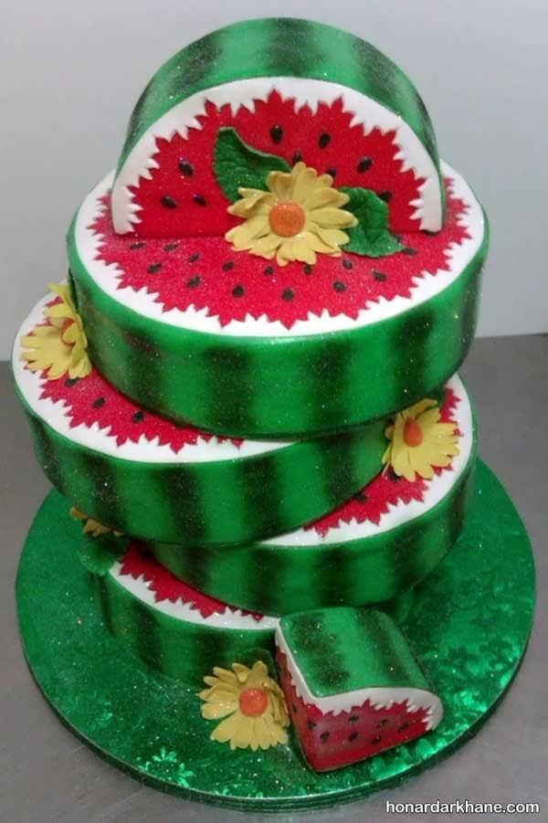 مدل های شیک دیزاین کیک هندوانه ای
