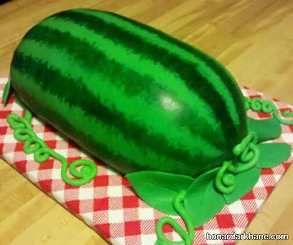 انواع مدل های خاص تزیینات کیک هندوانه ای