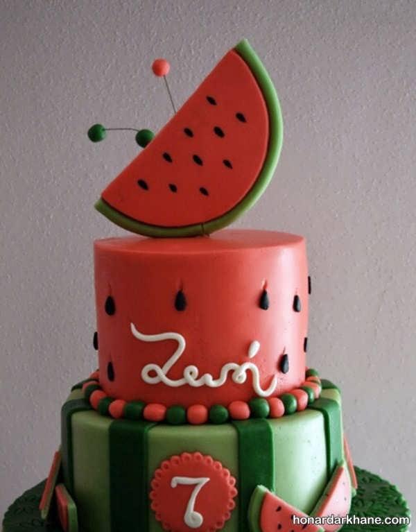 مدل های زیبا و شکیل تزیینات کیک هندوانه ای