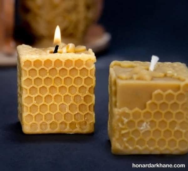 مراحل شمع سازی با موم زنبور عسل