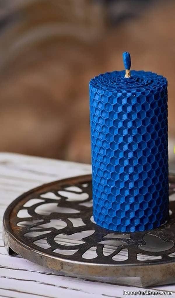 شیوه درست کردن شمع با موم زنبور عسل