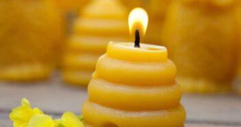 آموزش شمع سازی با موم زنبور عسل