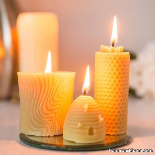 آموزش شمع سازی با موم عسل و ایده های خلاقانه برای ساخت شمع