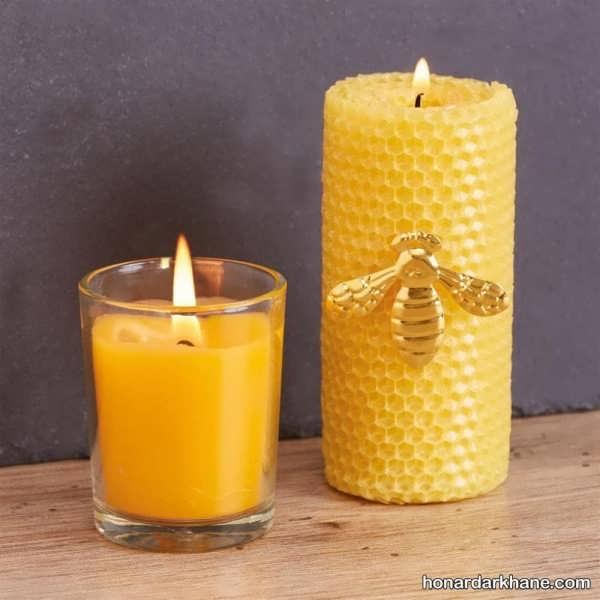 شیوه ساخت شمع با موم زنبور
