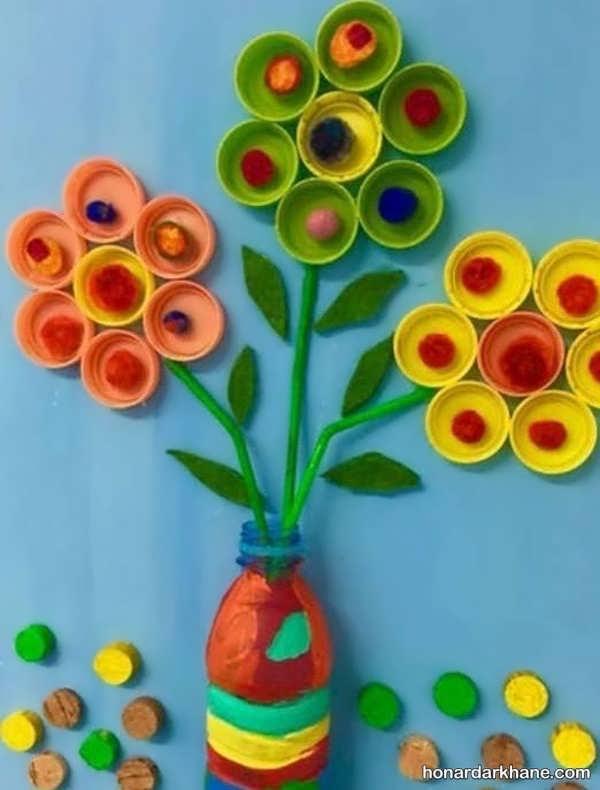 انواع هنردستی خلاقانه با درب نوشابه