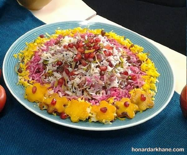 دستور پخت انار پلو شیرازی
