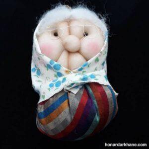 طریقه دوختن عروسک ننه سرما با نمد و پارچه