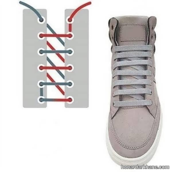 انواع گره زدن بند کفش های مختلف
