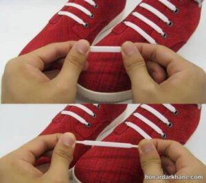 مدل های جدید گره زنی بند انواع کفش