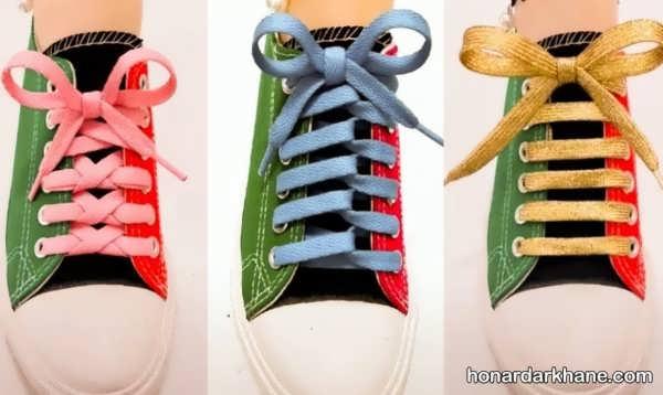 مدل های زیبا گره زدن بند انواع کفش