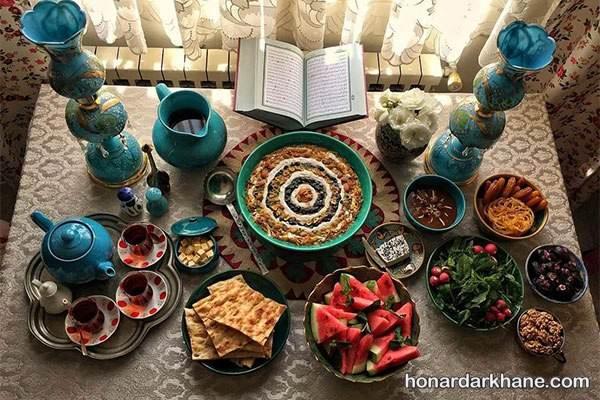 سفره افطار خودمانی