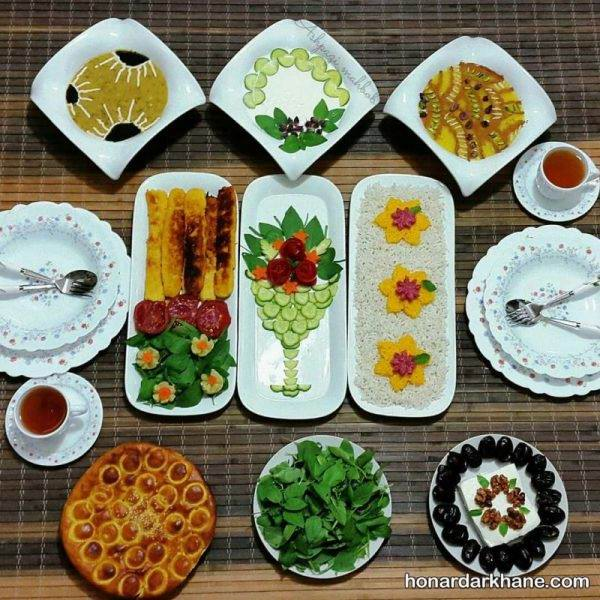تزیین غذای افطار
