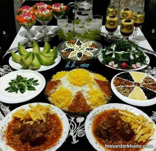 تزیین غذاهای سفره افطار