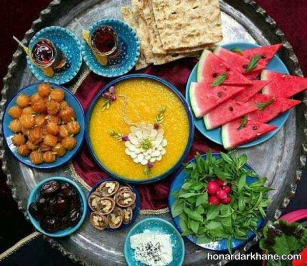 تزیین سینی برای افطار