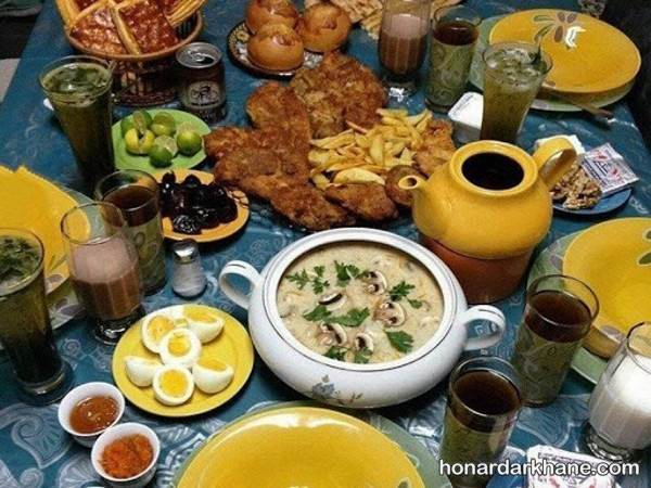 تزیین سوپ برای افطار