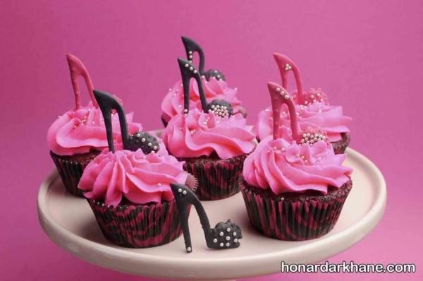 تزیین کاپ کیک دخترانه