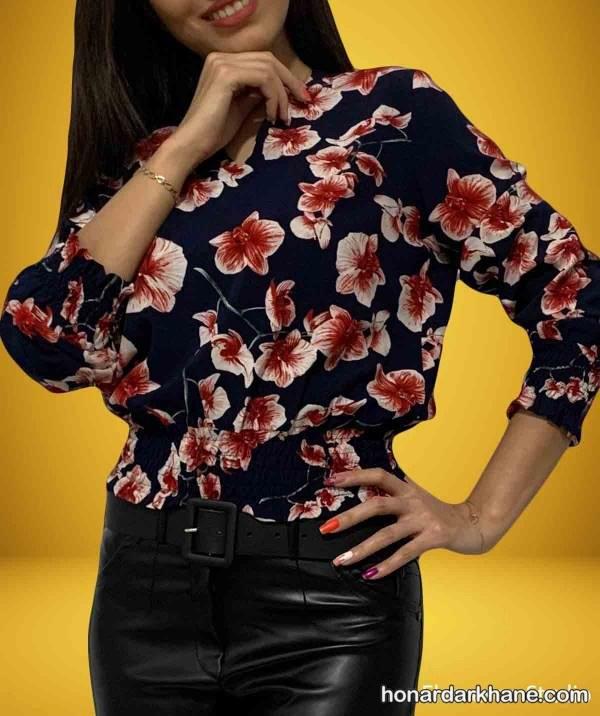مدل های شومیز گلدار برای خانم های شیک پوش و به روز