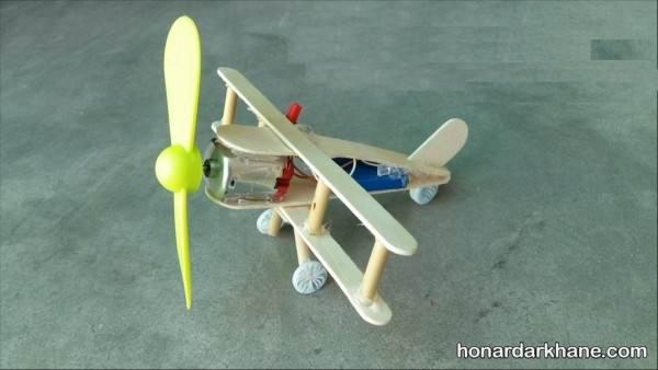 ساخت هواپیما متحرک با چوب