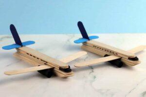 کاردستی هواپیما با چوب بستنی