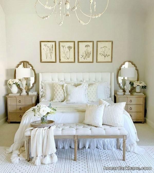 دیزاین اتاق خواب سفید
