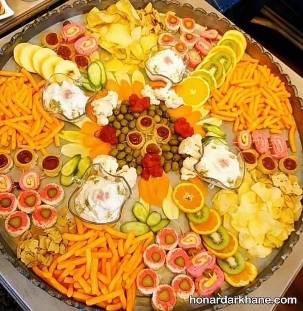 تزیین سینی میوه و خوراکی