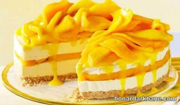دیزاین کیک با میوه