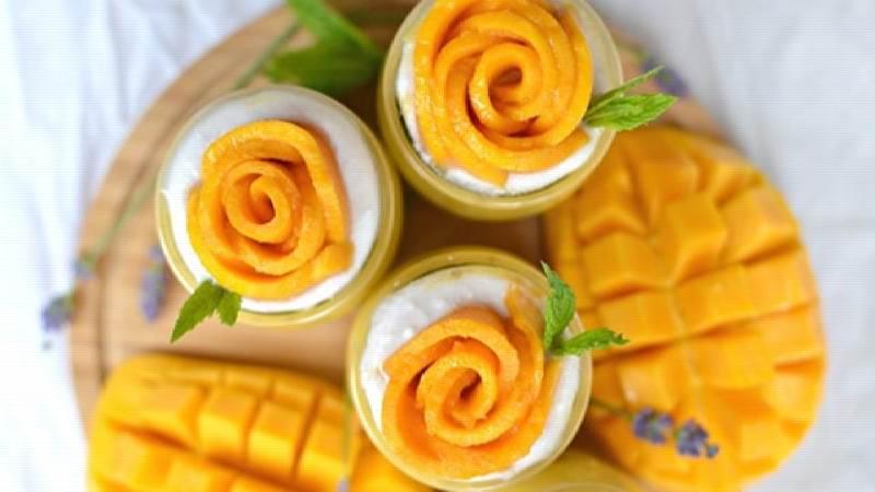 تزیین انبه و ایده هایی برای تزیین کیک و دسر با این میوه
