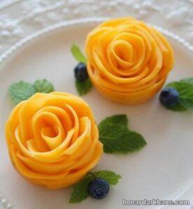 میوه آرایی انبه به شکل گل