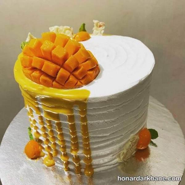 دیزاین کیک با انبه
