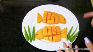 تزیین انبه به شکل ماهی