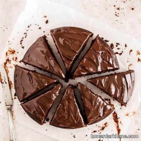 کیک خانگی شکلاتی