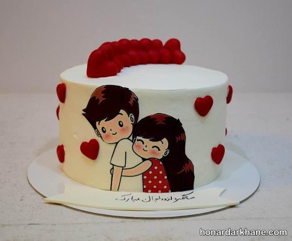 رمانتیک ترین ایده ها برای تزیین کیک سالگرد ازدواج و دوستی