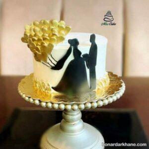 تزیین عاشقانه کیک