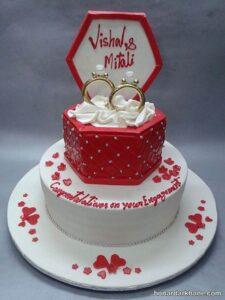 تزیین کیک با حلقه ازدواج