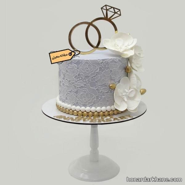 تزیین شیک و جدید کیک سالگرد