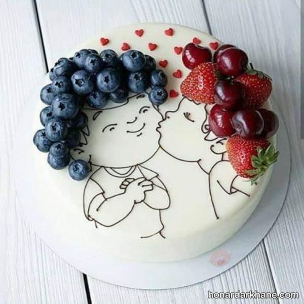 تزیین کیک فانتزی و عاشقانه