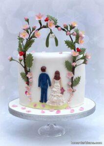تزیین کیک عاشقانه و جدید